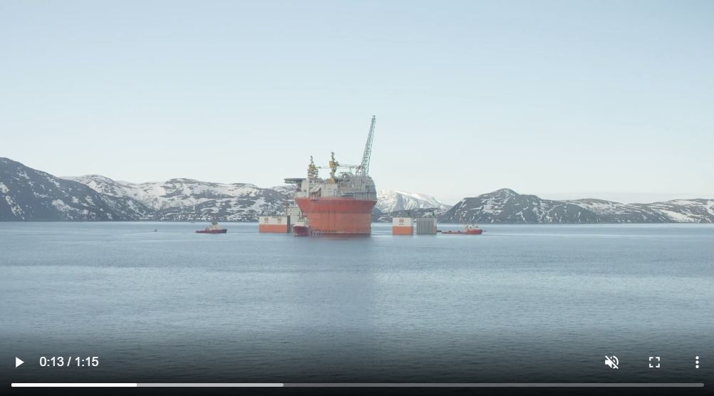 Goliat arrival in Norway 2015